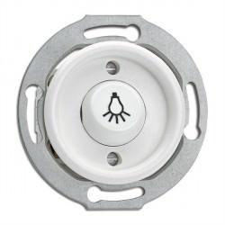 Bouton poussoir symbole lumière en duroplast vendu sans son cache (encastrable) - THPG